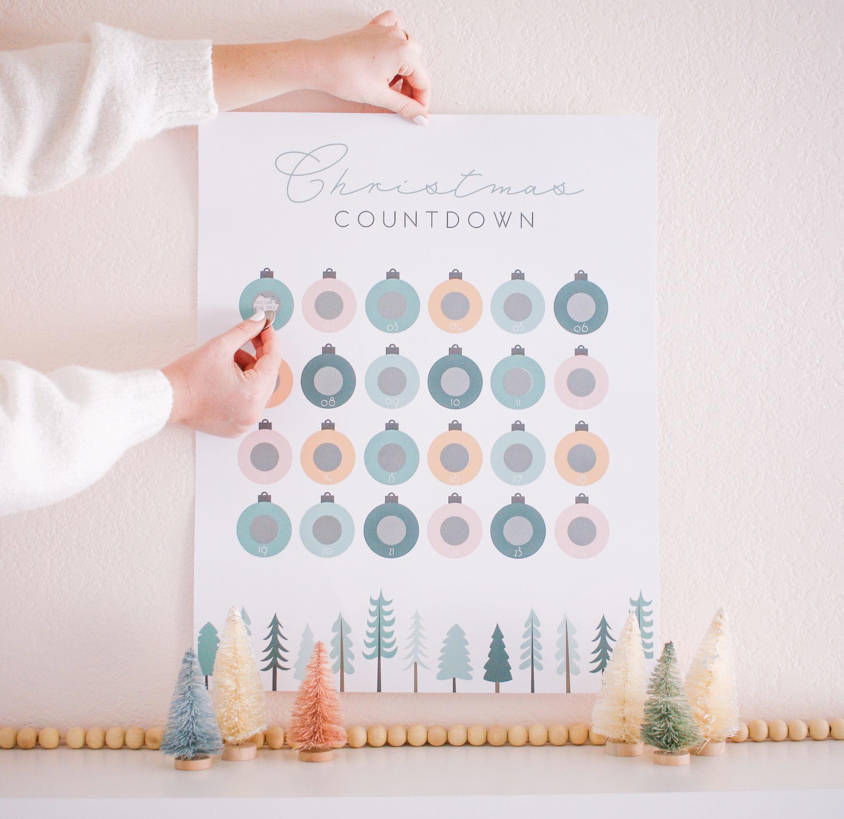 Advent Calendar for Scratch Vouchers 4 Scratch Cards DIY Christmas