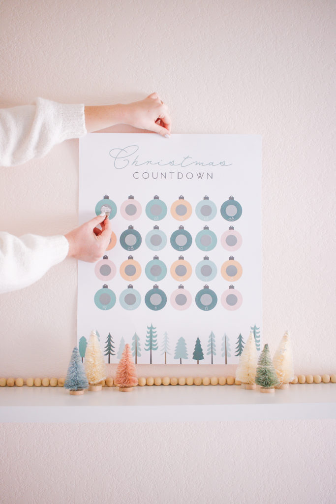 free printable diy scratch-off christmas advent calendar