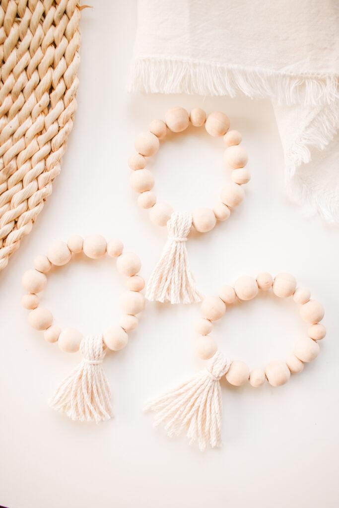 Diy Wooden Bead Tassel Napkin Rings For Your Dinner Table